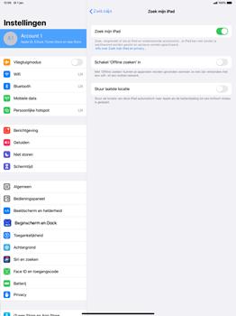 Apple ipad-pro-12-9-inch-2018-Model A1895-ipados-13 - Beveiliging en ouderlijk toezicht - Zoek mijn iPad inschakelen - Stap 10