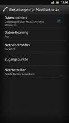 Sony Xperia S - Internet und Datenroaming - Deaktivieren von Datenroaming - Schritt 8