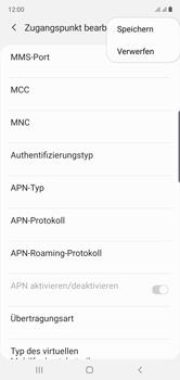 Samsung Galaxy Note 10 - Internet und Datenroaming - Manuelle Konfiguration - Schritt 17