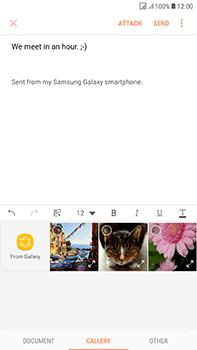 Samsung Galaxy J7 (2017) - E-mail - Sending emails - Step 12