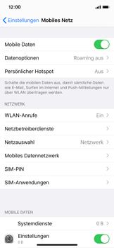 Apple iPhone X - iOS 13 - Startanleitung - So aktivieren Sie eine SIM-PIN - Schritt 4