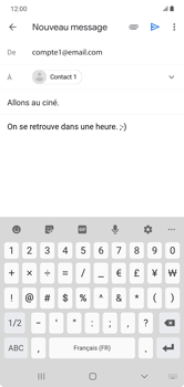 Samsung Galaxy Note 10+ - E-mails - Envoyer un e-mail - Étape 10