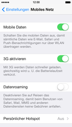 Apple iPhone 5s - Ausland - Im Ausland surfen – Datenroaming - 6 / 9