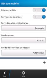 BlackBerry Z10 - Réseau - Sélection manuelle du réseau - Étape 6