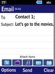 Samsung B550H Xcover 550 - E-mail - Sending emails - Step 9