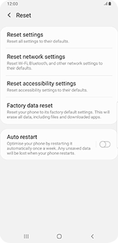 Samsung Galaxy Note9 - Android Pie - Mobile phone - Resetting to factory settings - Step 6