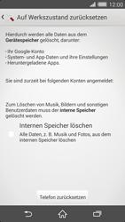 Sony Xperia Z2 - Fehlerbehebung - Handy zurücksetzen - 8 / 11