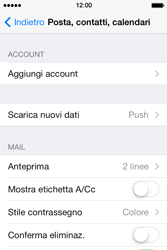 Apple iPhone 4S iOS 7 - E-mail - Configurazione manuale - Fase 8