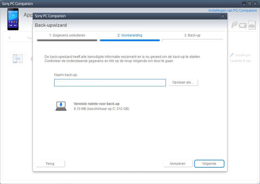 Sony E2303 Xperia M4 Aqua - Software - Backup maken van je toestel - Stap 6