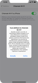 Apple iPhone XS Max - WiFi - Attivare WiFi Calling - Fase 7