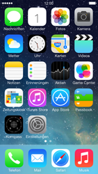Apple iPhone 5 iOS 7 - MMS - Manuelle Konfiguration - Schritt 1