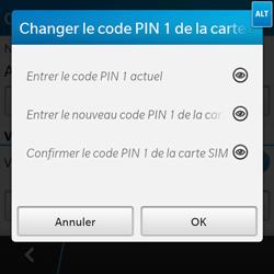 BlackBerry Q10 - Sécuriser votre mobile - Personnaliser le code PIN de votre carte SIM - Étape 7