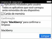 BlackBerry 9620 - Funções básicas - Como restaurar as configurações originais do seu aparelho - Etapa 10