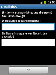 Samsung Galaxy Pocket - E-Mail - Manuelle Konfiguration - Schritt 17
