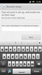 Sony Xperia U - E-mail - Manual configuration - Step 14