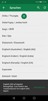 Huawei P20 - Android Pie - Startanleitung - So fügen Sie eine Tastatursprache hinzu - Schritt 10