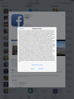Apple iPad Pro 12.9 inch met iOS9 (Model A1652) - Applicaties - Account aanmaken - Stap 9