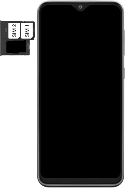 Samsung Galaxy A20e - Toestel - simkaart plaatsen - Stap 6