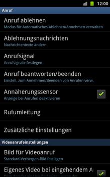 Samsung N7000 Galaxy Note - Anrufe - Rufumleitungen setzen und löschen - Schritt 5