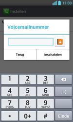LG E460 Optimus L5 II - Voicemail - handmatig instellen - Stap 9