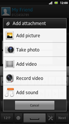 Sony MT27i Xperia Sola - MMS - Sending pictures - Step 13