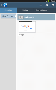 Samsung Galaxy Tab 3 8-0 LTE - Internet und Datenroaming - Verwenden des Internets - Schritt 9