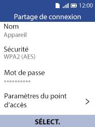 Alcatel 3088X - Internet et connexion - Partager votre connexion en Wi-Fi - Étape 5