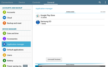 Samsung T535 Galaxy Tab 4 10.1 - Applications - How to uninstall an app - Step 9