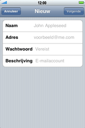 Apple iPhone 3G S - e-mail - handmatig instellen - stap 7