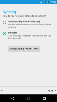 Sony Xperia Z5 Premium (E6853) - E-mail - Manual configuration (outlook) - Step 10