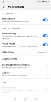 Huawei Mate 10 Pro - Android Pie - Ausland - Im Ausland surfen – Datenroaming - Schritt 9