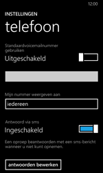 Nokia Lumia 630 - Voicemail - Handmatig instellen - Stap 8