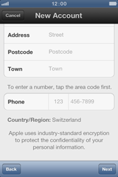 Apple iPhone 4 S - Applications - Create an account - Step 15