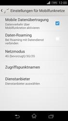 Sony Xperia E3 - Netzwerk - Netzwerkeinstellungen ändern - 6 / 8