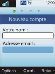 Sony W595 - E-mail - Configuration manuelle - Étape 7