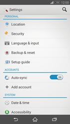 Sony Xperia Z3 - Mobile phone - Resetting to factory settings - Step 4