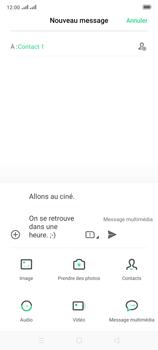 Oppo Reno 2 - Contact, Appels, SMS/MMS - Envoyer un MMS - Étape 16