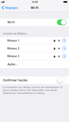 Apple iPhone 8 - Wifi - configuration manuelle - Étape 4