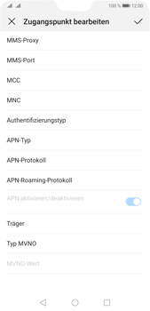 Huawei P20 Pro - Android Pie - MMS - Manuelle Konfiguration - Schritt 11