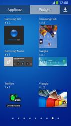 Samsung Galaxy S 4 Active - Operazioni iniziali - Installazione di widget e applicazioni nella schermata iniziale - Fase 7