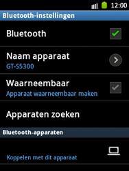 Samsung S5300 Galaxy Pocket - bluetooth - headset, carkit verbinding - stap 7