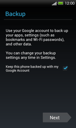HTC One SV - Applications - Setting up the application store - Step 15