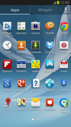 Samsung Galaxy Note II - Getting started - Installing widgets and applications on your start screen - Step 4