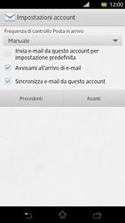 Sony Xperia T - E-mail - Configurazione manuale - Fase 14