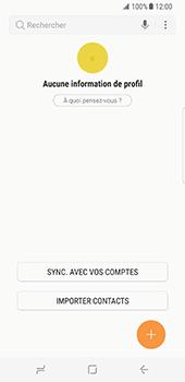 Samsung Galaxy S8 - Contact, Appels, SMS/MMS - Ajouter un contact - Étape 4