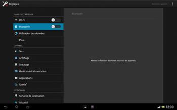 Sony SGP321 Xperia Tablet Z LTE - Bluetooth - connexion Bluetooth - Étape 7