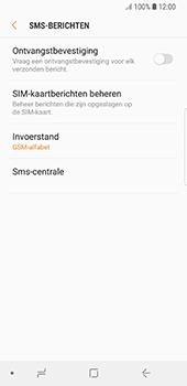 Samsung Galaxy S8 - Android Oreo (SM-G950F) - SMS - Handmatig instellen - Stap 10