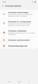Samsung galaxy-s10-lite-dual-sim-sm-g770f - Contacten en data - Contacten kopiëren van toestel naar SIM - Stap 6