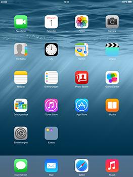 Apple iPad Air iOS 8 - Apps - Einrichten des App Stores - Schritt 2