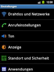 Samsung S5360 Galaxy Y - WLAN - Manuelle Konfiguration - Schritt 4